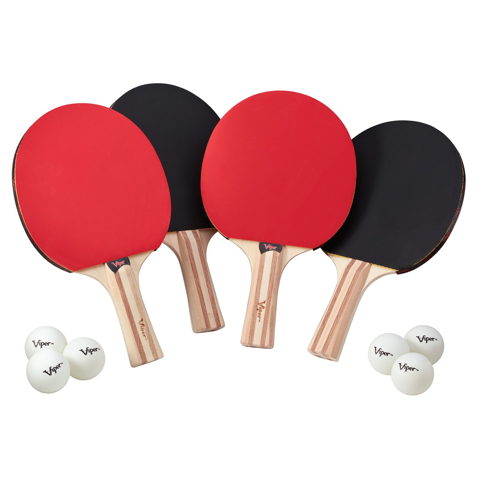 Viper Four-Racket Table Tennis Set