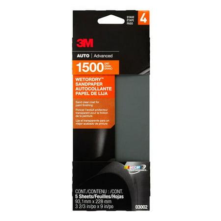3m 1500 Grit Wet Or Dry Automotive Sandpaper 3 2 3 Quot X 9