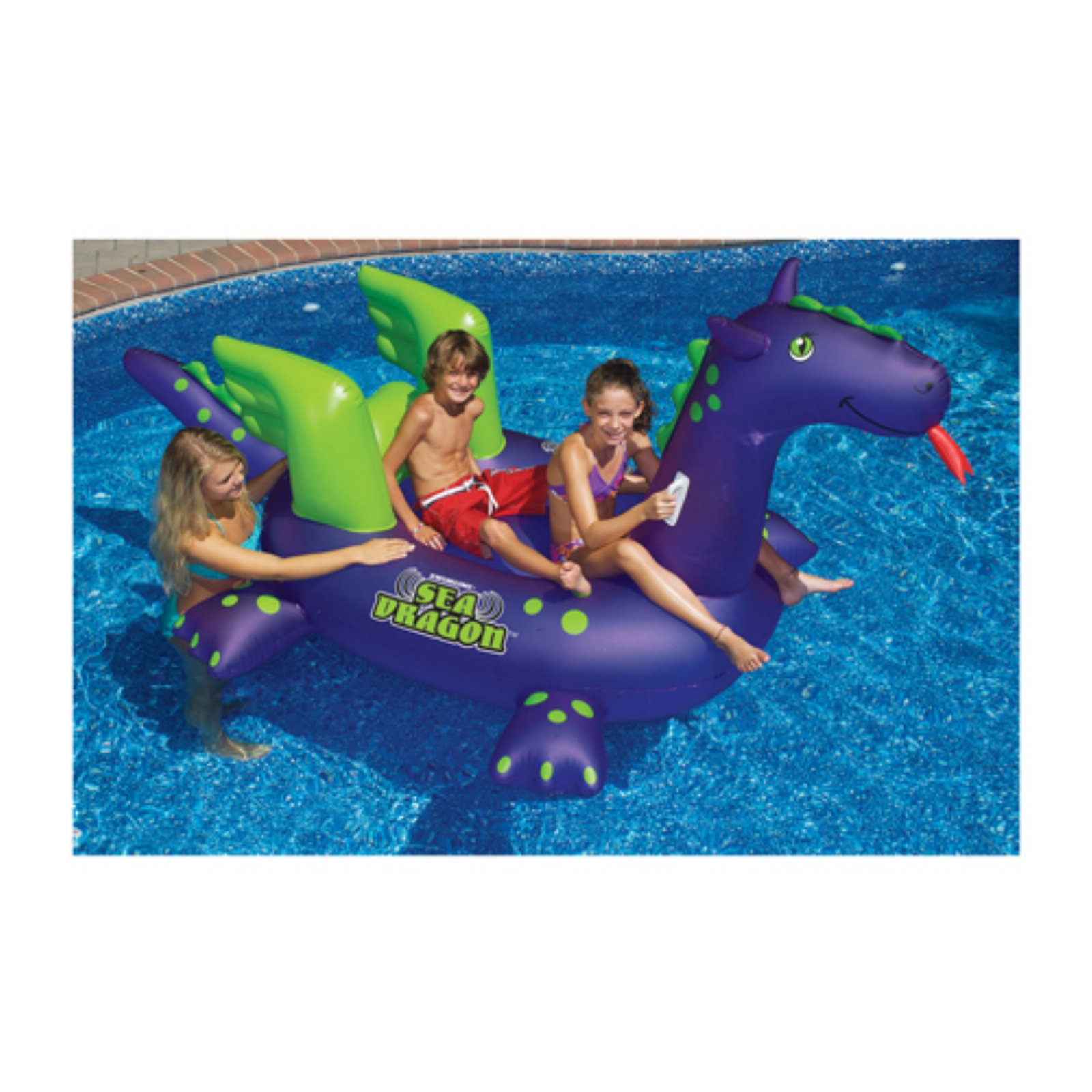Swimline 90625 Swimming Pool Kids Giant Rideable Sea Dragon Inflatable Float Toy by INTERNATIONAL LEISURE PRODUCTS