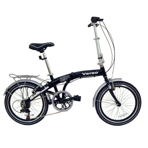 Verso Cologne Folding Bike, Gloss Black