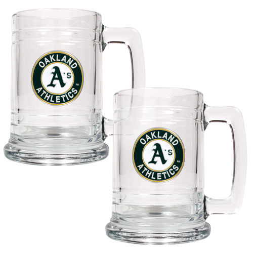 Oakland Athletics 2-Piece 15oz. Tankard Set - No Size