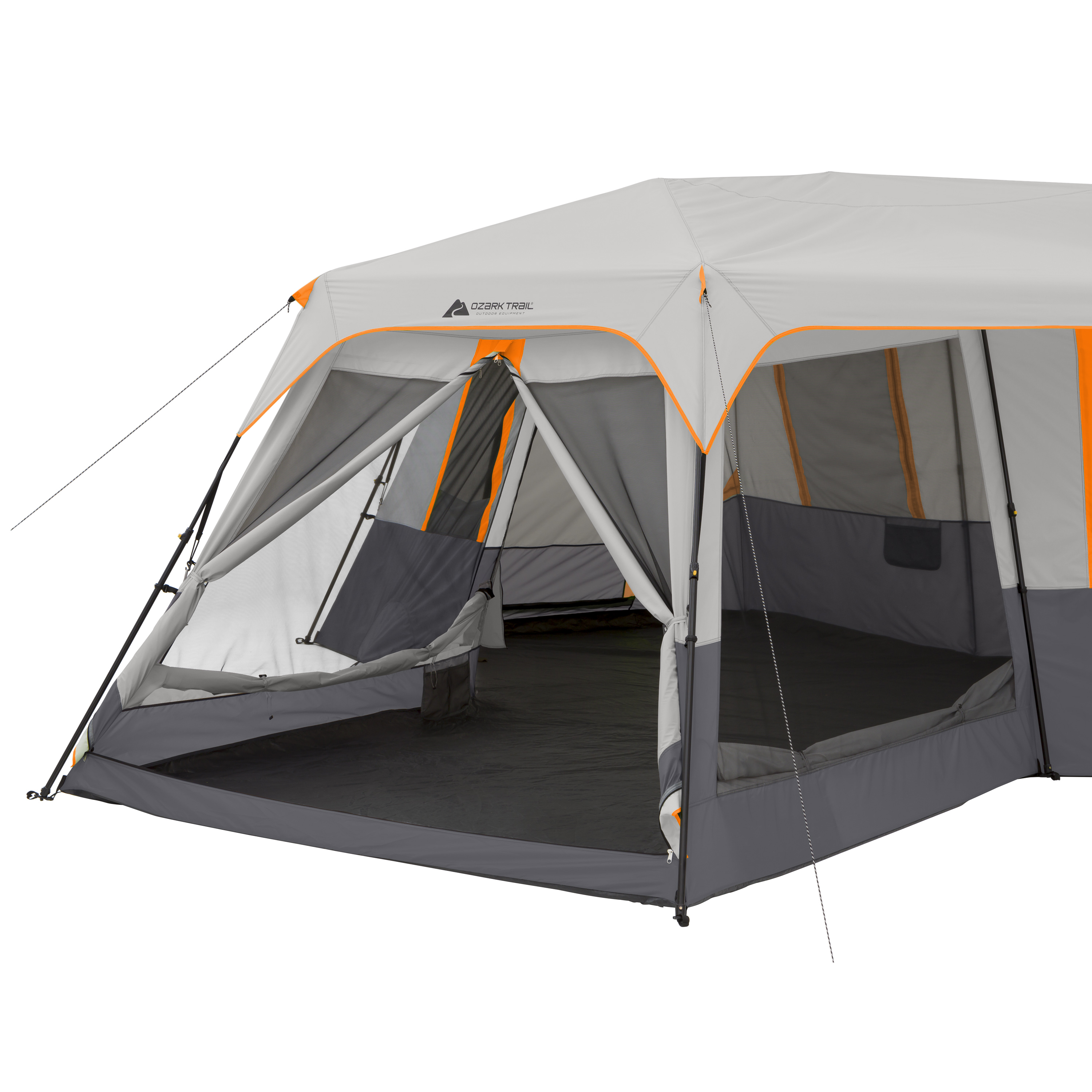 Ozark Trail 12-Person 3-Room Instant Cabin Tent with Screen Room Image 3  sc 1 st  Walmart & Ozark Trail 12-Person 3-Room Instant Cabin Tent with Screen Room ...