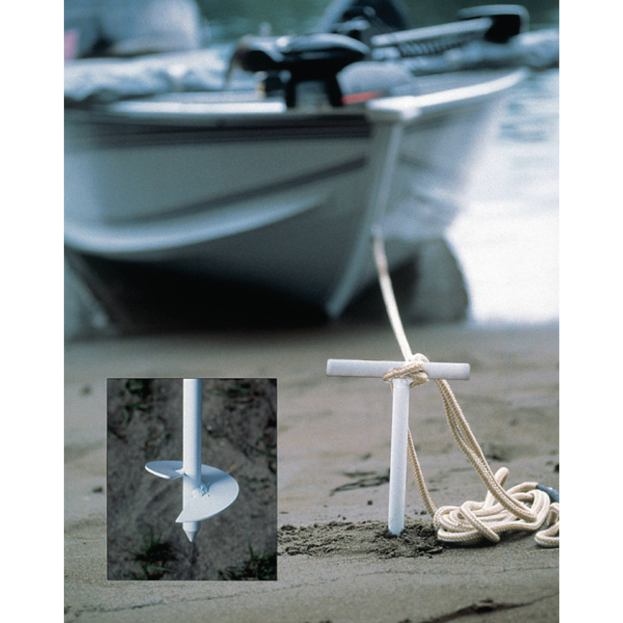 "Ironwood Pacific 22"" Two-Piece Sand Anchor with Storage Bag"