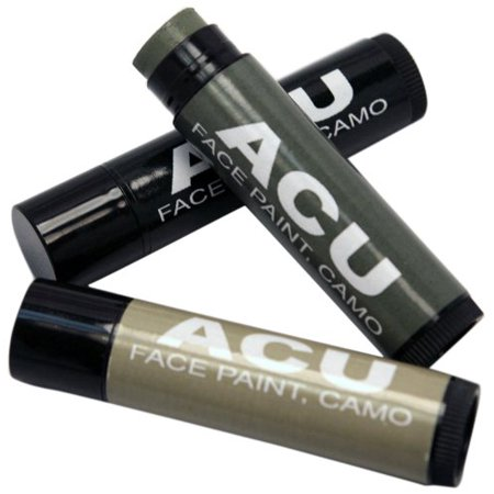 Camouflage 3 Face Paint Sticks Kit, ACUOdorless and Non Glare By Bobbie Weiner - Paint Camouflage Face Halloween