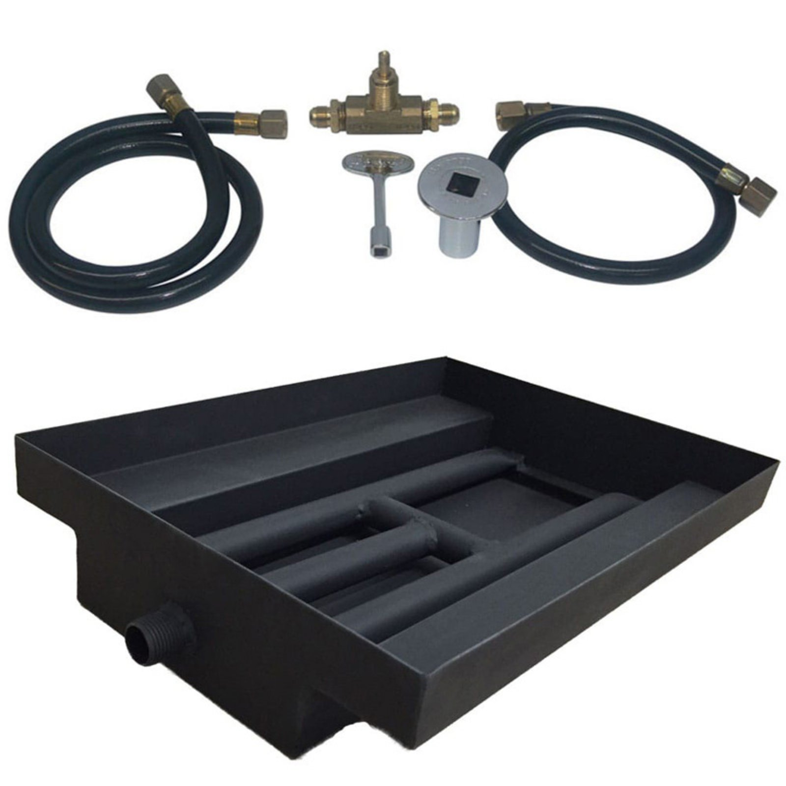 Tretco 14GA Powder Coated Fire Pit Burner Island Kit