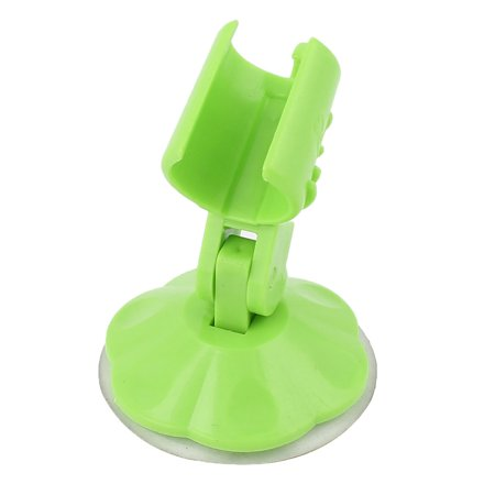 Adjustable Safe Bathroom Vacuum Suction Cup Shower Arm Holder Green