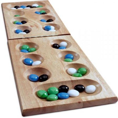 Wood Folding Mancala in Cardboard Sleeve