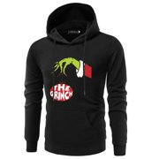 KABOER Grinch Christmas Funny Hoodie Men Fashion Long Sleeve Printing Hooded Sweatshirt Christmas Pullover Tops