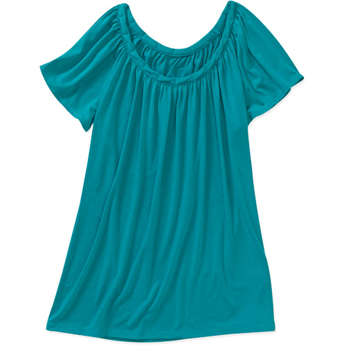 Faded Glory Women's Braided Neck Knit Top