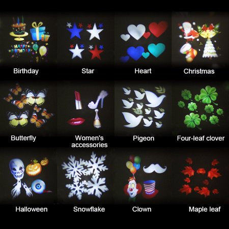 12 Patterns 4W Auto Moving Projector Laser Lamp ledstagelight LED Spotlight Outdoor Landscape for Halloween  Christmas Party Decoration Waterproof IP65AC 100V-240V - Halloween Trace Patterns