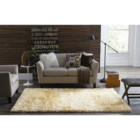 Welspun Spaces Homebeyond Teddy Shag Ivory Area Rug