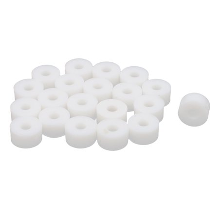 Round Plastic Column Standoff Support Spacer Tube White 15x8mm 20pcs