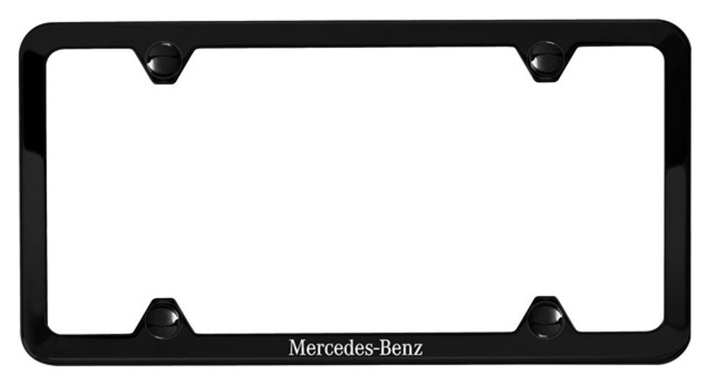 Genuine Mercedes Benz License Plate Frame, Black Powder Coat