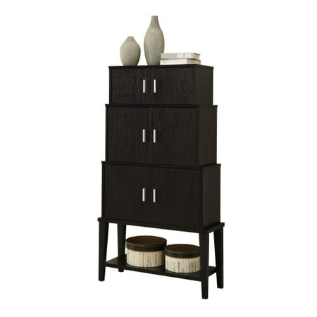 "Monarch Storage Cabinet 55""H / Cappuccino Stacking Style"