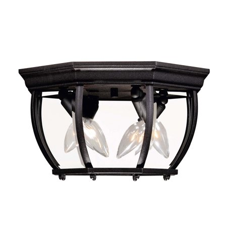 02 Candelabra (Outdoor Wall Sconces 3 Light With Black Finish Candelabra Bulbs 9 inch 120 Watts)