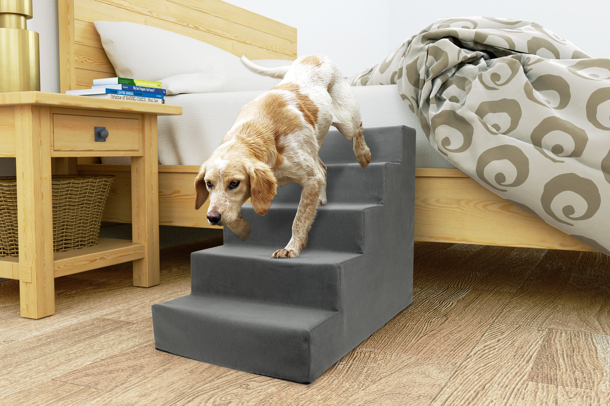 5 Step Portable Pet Stairs By Home Base   Walmart.com