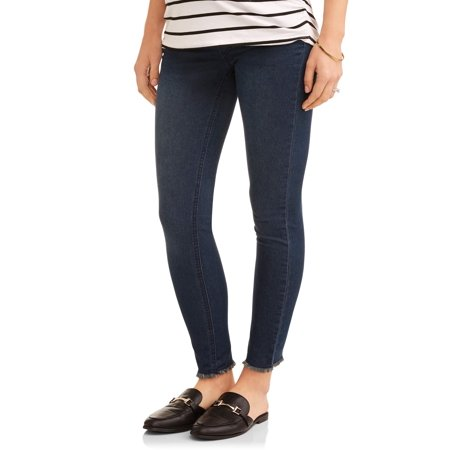 Maternity Underbelly Frayed Skinny Jeans - Available in Plus (Best Maternity Jeans 2019 Uk)