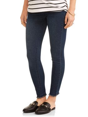 Maternity Underbelly Frayed Skinny Jeans - Available in Plus Sizes
