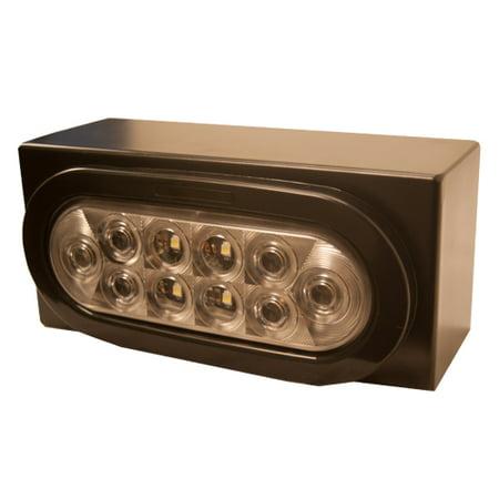10 Diode White LED Backup Light Kit, Truck Trailer Reverse Light Box ()