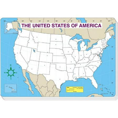 Frank Schaffer Publications/Carson Dellosa Publications Jumbo Map Pad Us Blank 30/pk