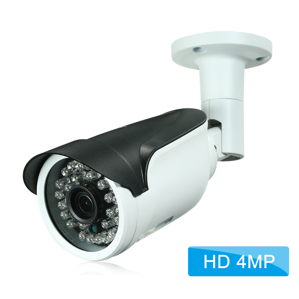 "4MP ( 1080P / 1440P / 1520P ) Camera HD Bullet POE IP Camera Cam 1/2.7"" CMOS 3.6mm Lens H.265/H.264 Night View IR-CUT Network Onvif P2P Android iPhone Remote View Motion Detection Waterproof"
