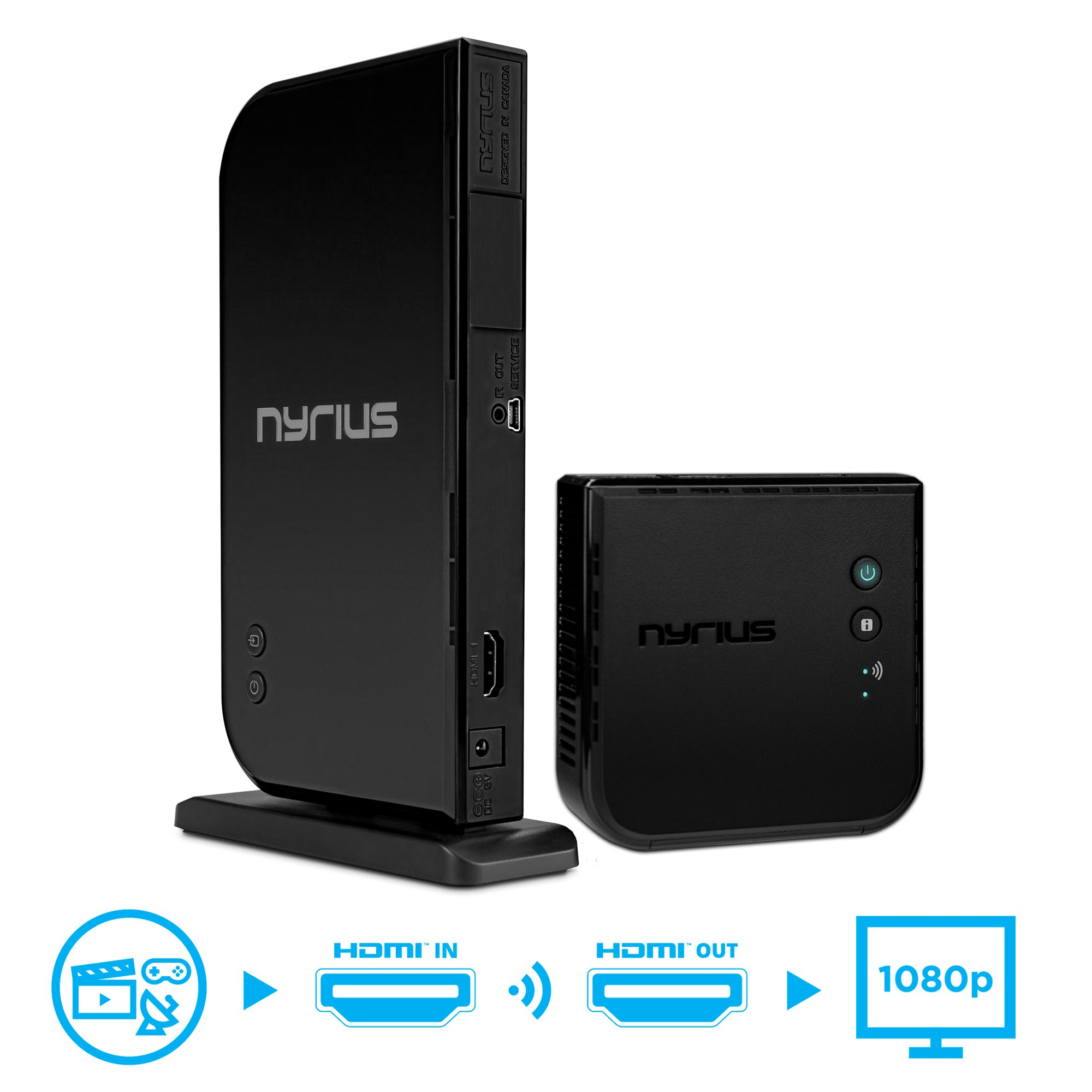 Nyrius ARIES Home HDMI Digital Wireless Transmitter & Receiver for HD 1080p  Video Streaming, Cable box, Satellite, Bluray, DVD, PS3, PS4, Xbox 360,