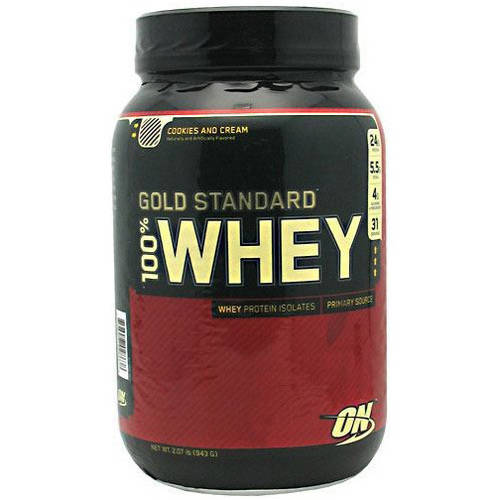 Optimum Nutrition 100% Whey Gold Standard, Cookies and Cream, 2 LB