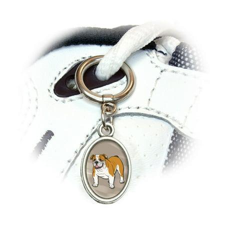 English Bulldog - Pet Dog Oval Shoe Charm (American Bulldog Dog Shoes)