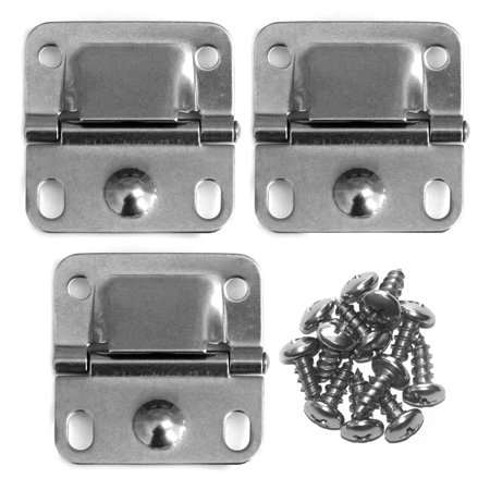 Stainless Steel Hood Hinges (Coleman Cooler Stainless Steel Hinges, 3pk Replacement )