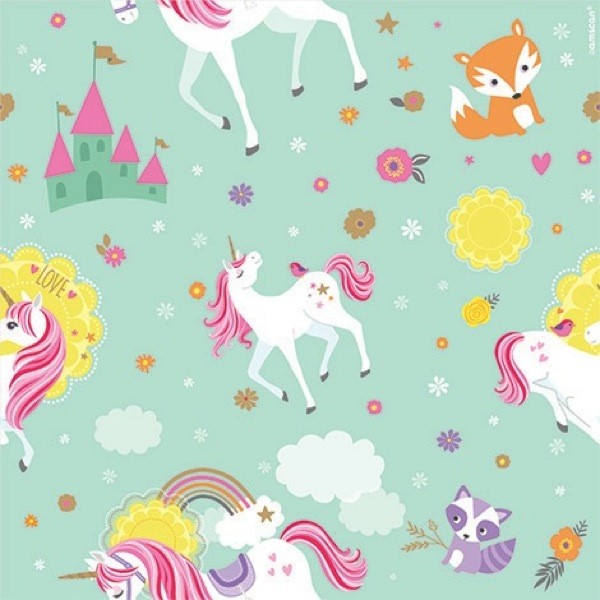 Magical Unicorn Roll of Gift Wrap (12.5sq. ft)