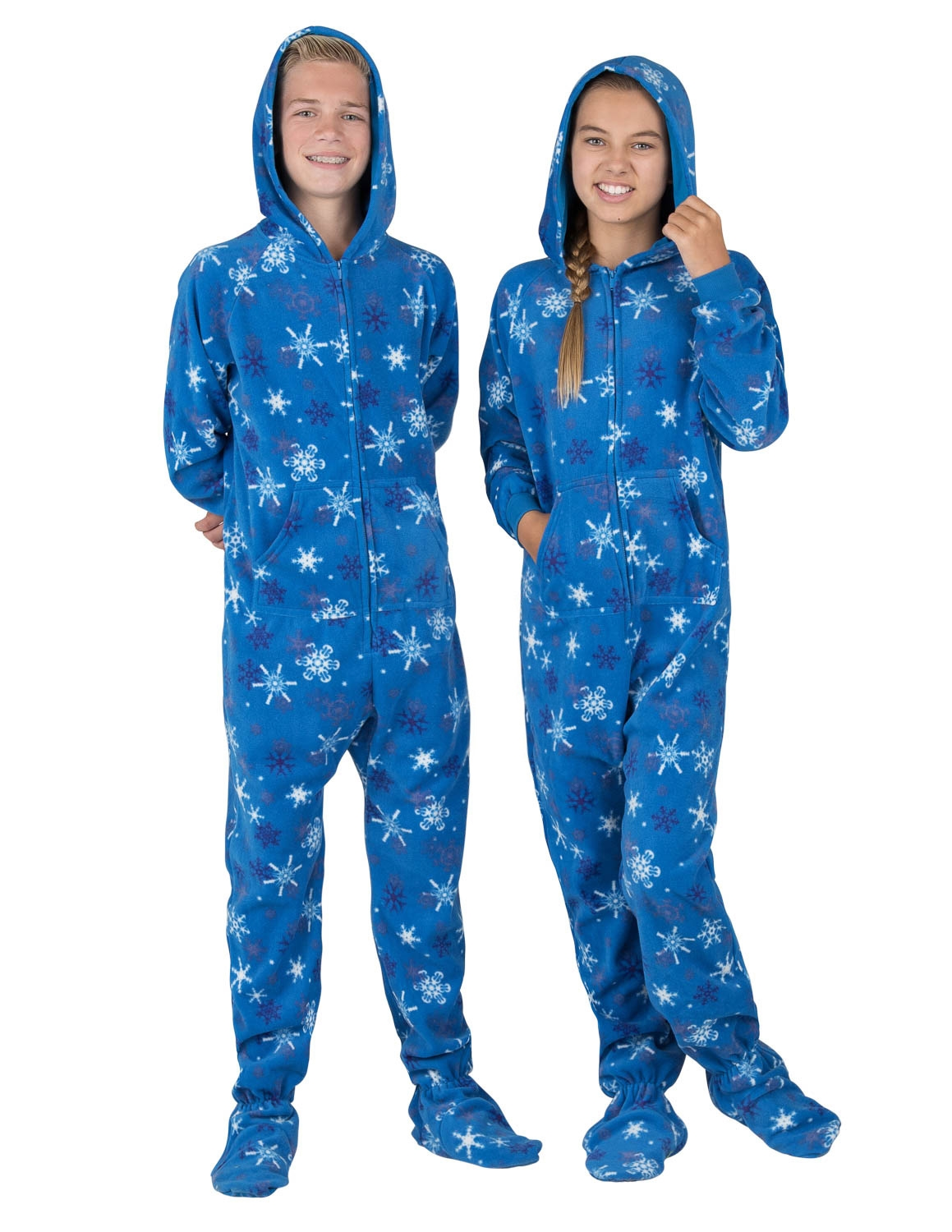 Christmas Footie Pajamas For Kids.Footed Pajamas Its A Snow Day Kids Hoodie Fleece Onesie