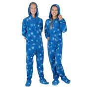 Footed Pajamas - Its A Snow Day Kids Hoodie Fleece Onesie