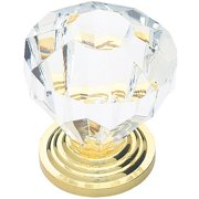 """Brainerd Clear 1.25"""" Acrylic Faceted Knob,"""