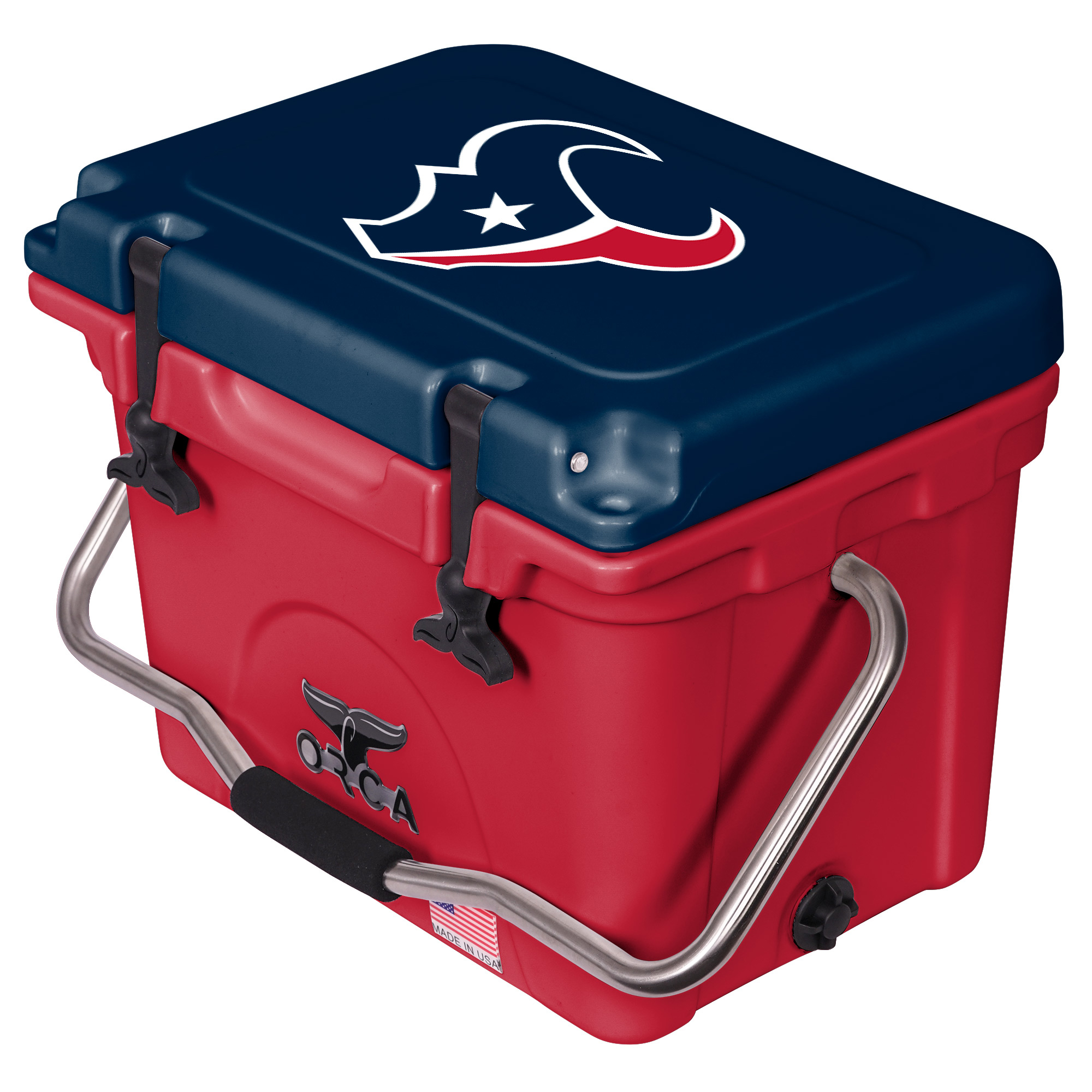 Houston Texans ORCA 20-Quart Hard-Sided Cooler - Red/Navy - No Size