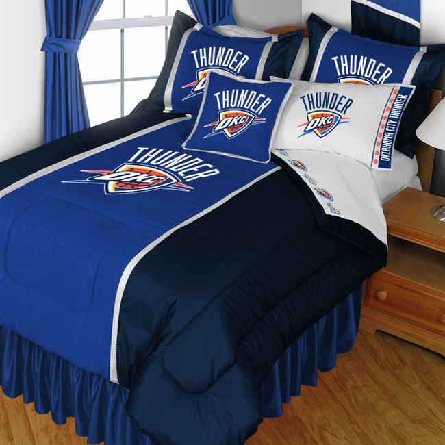NBA Oklahoma City Thunder Comforter Set Basketball Bedding Twin