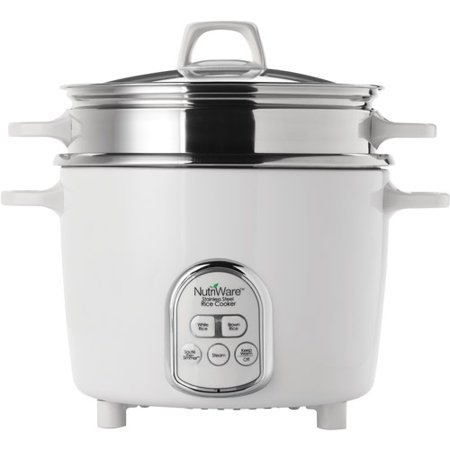 Aroma Nutriware 14-Cup Digital Rice Cooker and Food Steamer with Stainless Steel Surface