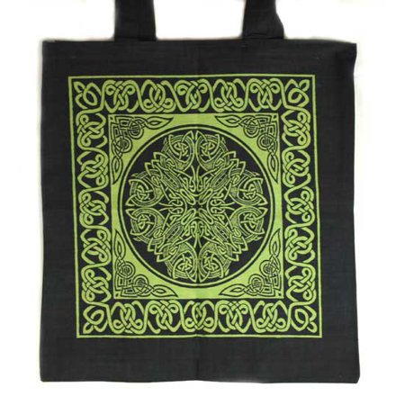 Women Tote Handbags Celtic Knot of Abundant Forest Green Washable (Tote Forest Green)