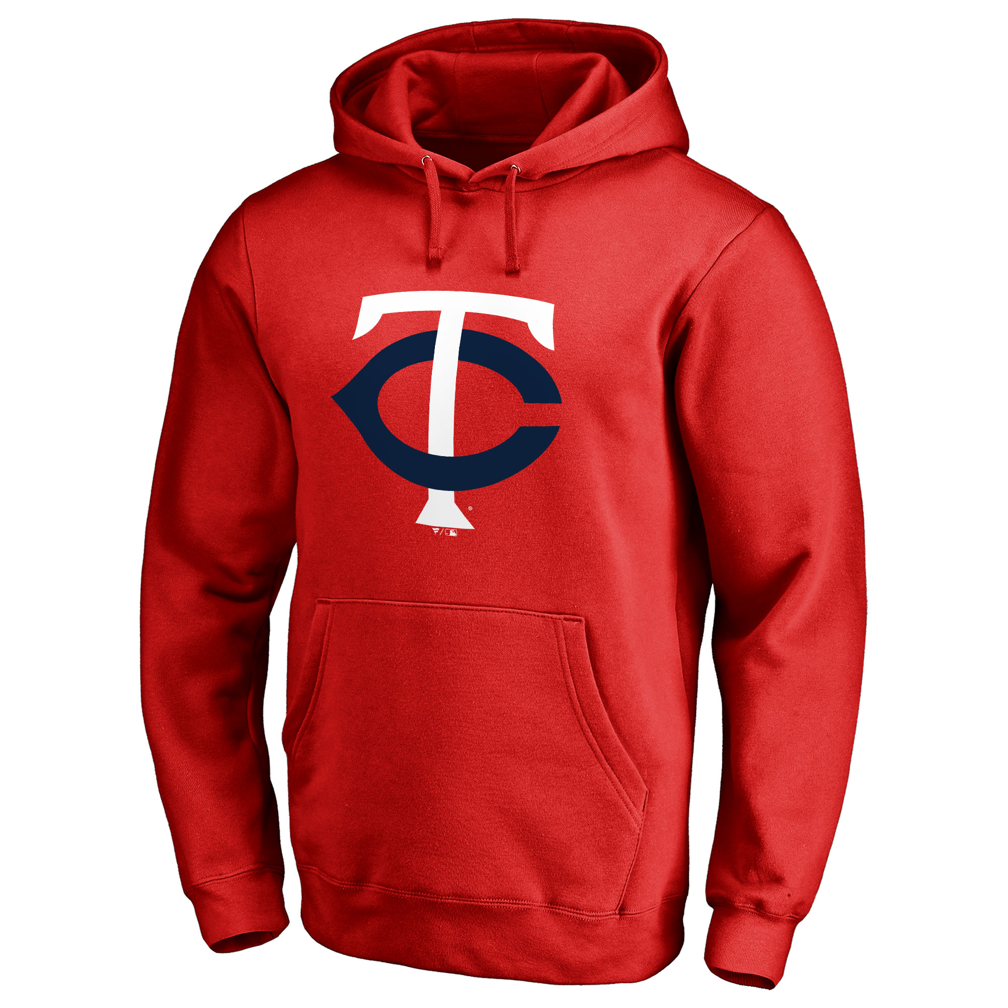 Minnesota Twins Secondary Color Primary Logo Pullover Hoodie - Red