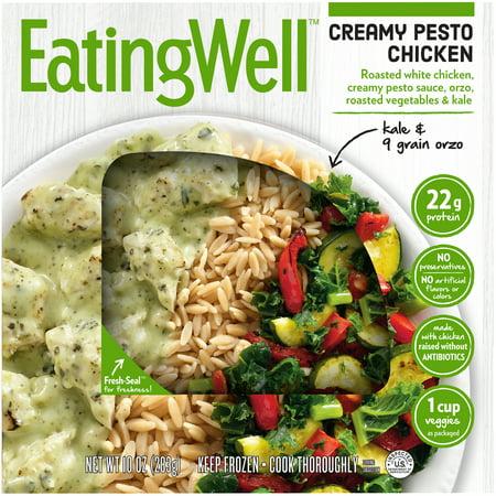 Eating Well Creamy Pesto Chicken 10 oz. Box - Walmart.com