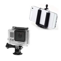 Movo Smartphone and GoPro Tripod Mount Adapters for the Apple iPhone 4, 4S, 5, 5S, 6, 6S. Samsung Galaxy S3, S4, S5, S6 and GoPro HERO, HERO2, HERO3, HERO3+, HERO4 Black, White + Silver Editions