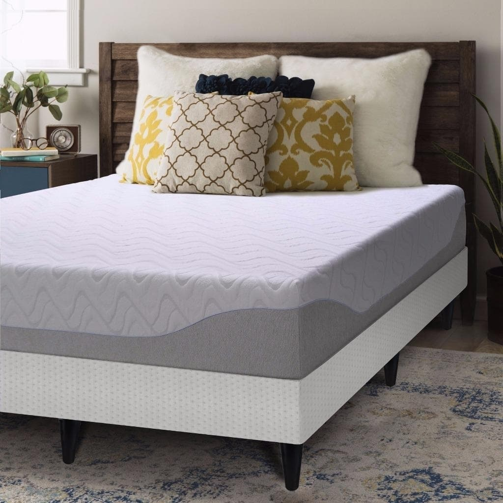 Crown Comfort  Gel 9-inch Full-size Bi-fold Box Spring and Memory Foam Mattress