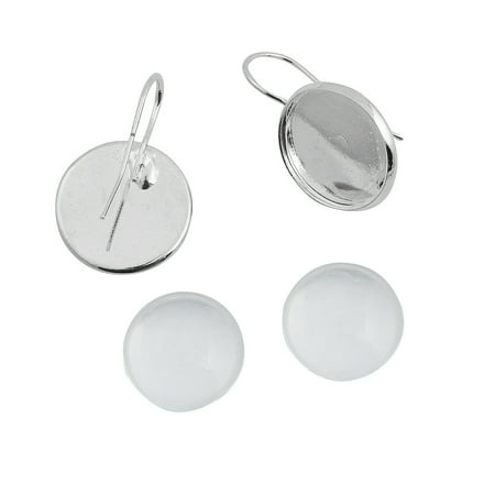 - Fun Express - St Photo Charm Drop Earrings - Craft Supplies - Adult Beading - Beading Components - 12 Pieces