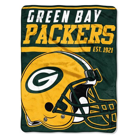 "NFL Green Bay Packers ""40-Yard Dash"" 46""x 60"" Micro Raschel - Green Bay Packers Gifts"