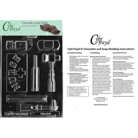 Nurse Kit Chocolate Candy Mold with Exclusive Cybrtrayd Copyrighted Molding Instructions