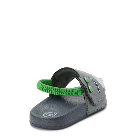 Wonder Nation Shark Slide Sandals (Infant Boys)