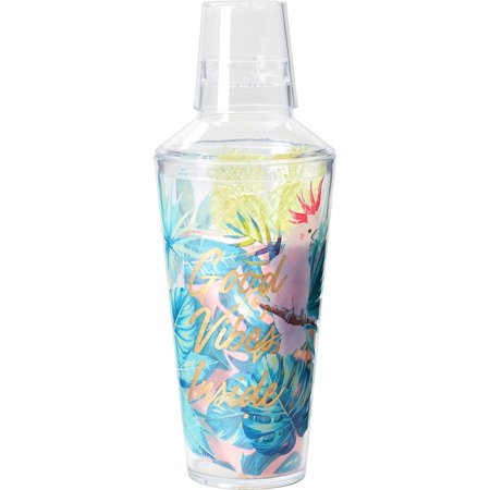 Tri-Coastal Tropical Cocktail Shaker Set, 19 Pieces, Includes Napkins and Stirrers