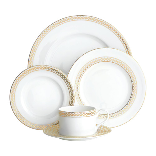 Auratic Inc. Chantilly 5 Piece Place Setting by Auratic Inc.
