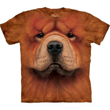 Orange 100% Cotton Chow Chow Graphic Animal Novelty T-Shirt