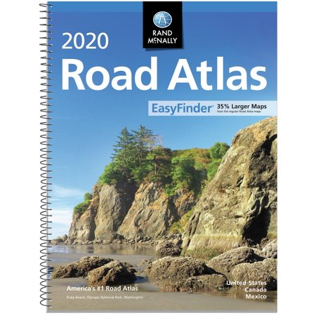 Rand mcnally 2020 easy finder midsize road atlas: 9780528021060