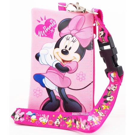 Minnie Mouse Pink Lanyard with Detachable Coin - Minnie Mouse Lanyard